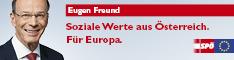 Soziale Werte aus Österreich. Für Europa. 234x60 Pixel