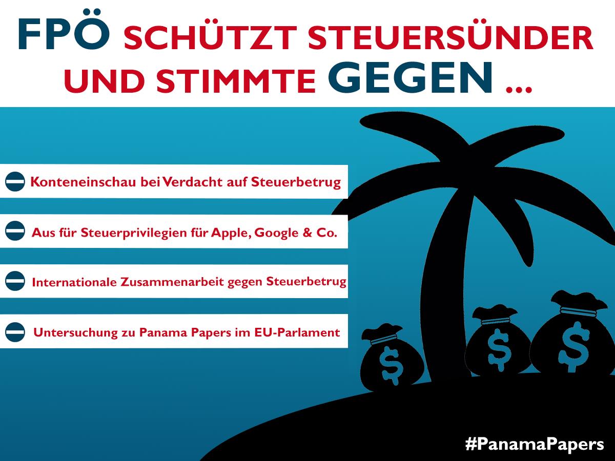 Die FPÖ und die Steuerhinterziehung