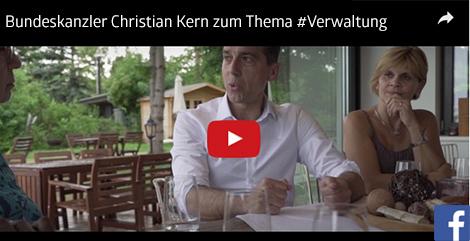 Videolink: BK Christian Kern zum Thema Verwaltung