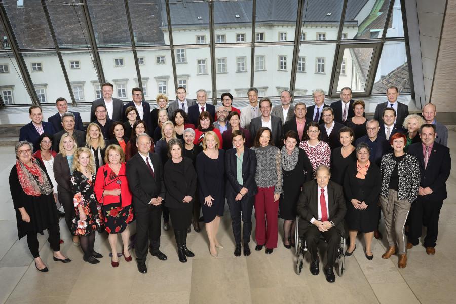 Gruppenfoto SPÖ-Parlamentsklub