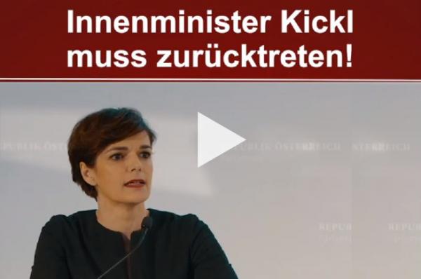 Petition: Kickl muss zurücktreten! Unterstütze die Petition der SPÖ