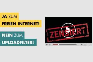 EU-Richtlinie: Nein zur Zensur im Internet!