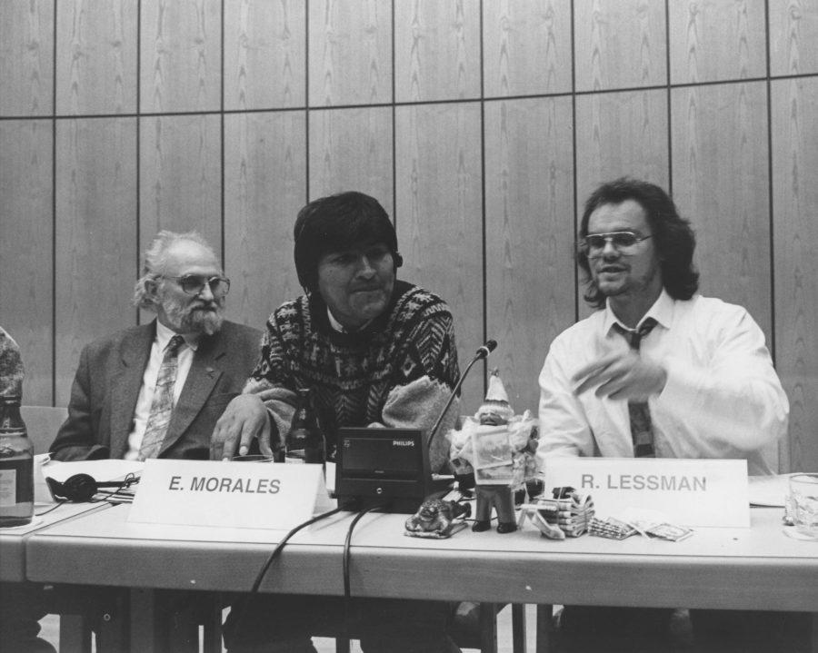 Herbert Berger, Evo Morales